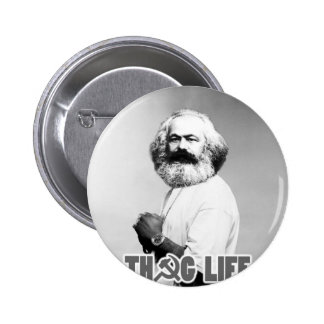 Karl Marx Thug Life 6 Cm Round Badge