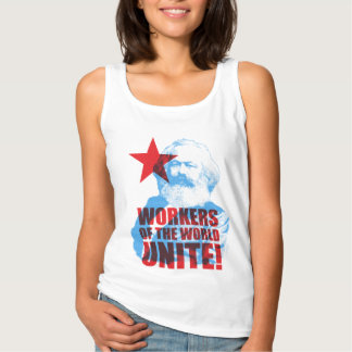 Karl Marx Workers of the World Unite! Slogan Singlet