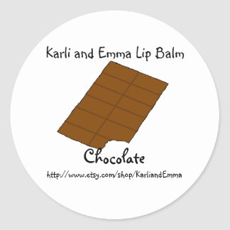 Karli and Emma Chocolate Lipbalm Round Sticker