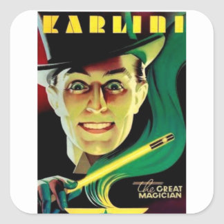 Karlini the Magician Square Sticker