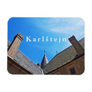 Karlstejn Castle. Curvature of space. Magnet