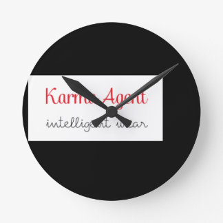 karma Agent - intelligent wear, positive energy Round Clock