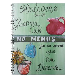 Karma Cafe Spiral Notebook