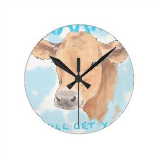 Karma Cow Wallclock