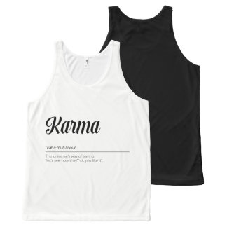 Karma Definition Funny All-Over Print Singlet