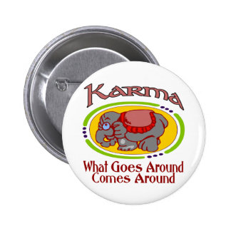 Karma Elephant 6 Cm Round Badge