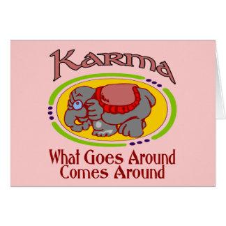 Karma Elephant Greeting Card