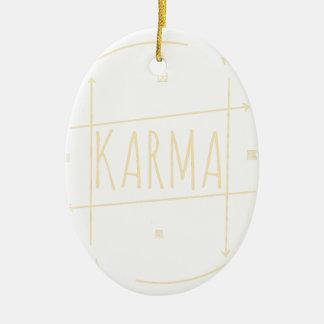 Karma (For Dark Background) Ceramic Ornament