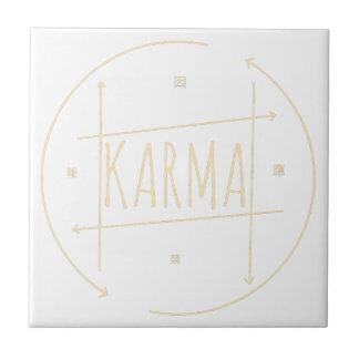 Karma (For Dark Background) Ceramic Tile