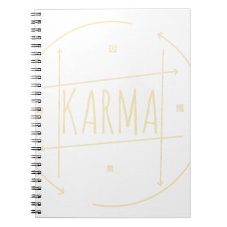Karma (For Dark Background) Notebook