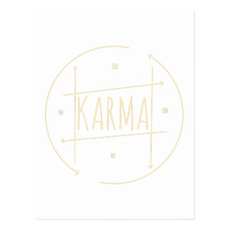 Karma (For Dark Background) Postcard