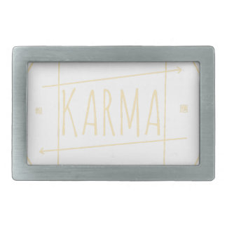 Karma (For Dark Background) Rectangular Belt Buckle