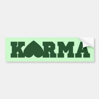 Karma Heart Bumper Sticker