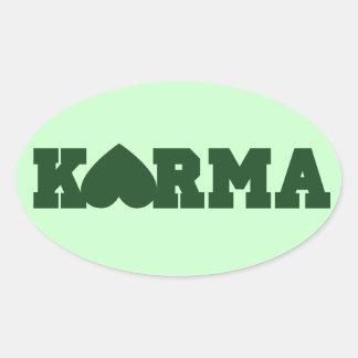 Karma Heart Oval Sticker