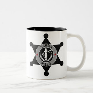 Karma-Police, arrest this man... Two-Tone Coffee Mug