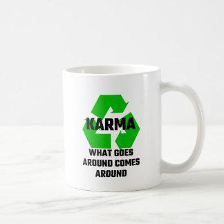 Karma What Goes Around Comes Around Basic White Mug