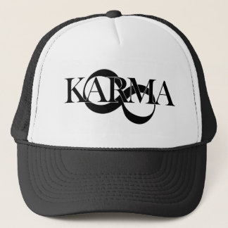 Karma with infinity symbol trucker hat