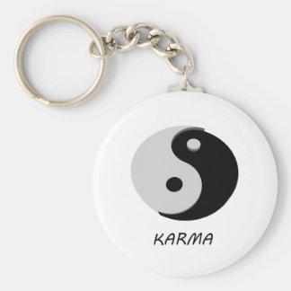 Karma Ying Yang Basic Round Button Key Ring