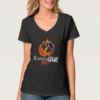 KarmaQue 2017 V-neck Dark T-Shirt