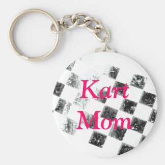 Kart Mom Basic Round Button Key Ring