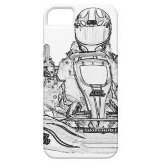 Kart Racer Pencil Sketch iPhone 5 Cover