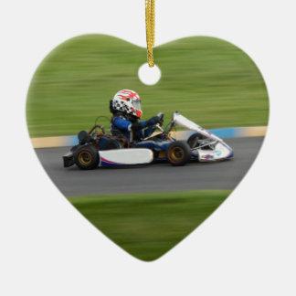 Kart Racing Ceramic Ornament
