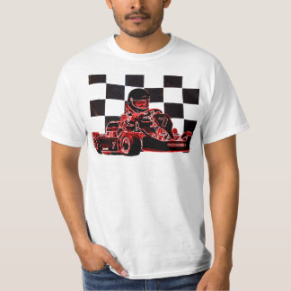 Kart Racing Red/Checkered Flag T-Shirt