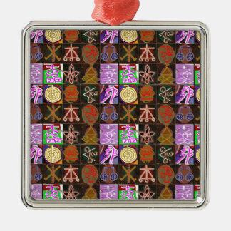 KARUNA Reiki = Gifts of Cosmic Kindness n Healing Silver-Colored Square Decoration