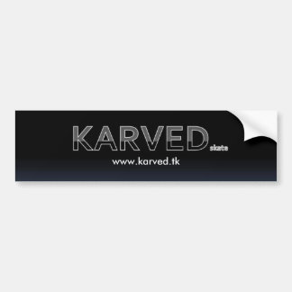 Karved Brand Skateboard Bumper/TAG sticker Bumper Sticker