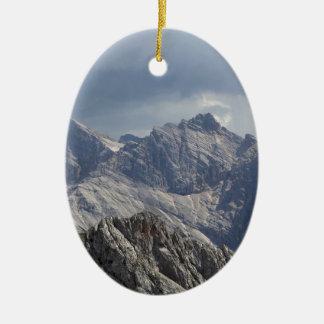 Karwendel range in the Bavarian Alps. Ceramic Oval Decoration