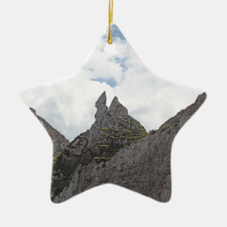 Karwendel range in the Bavarian Alps. Ceramic Star Decoration