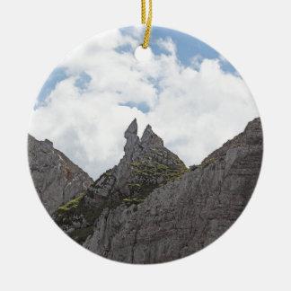 Karwendel range in the Bavarian Alps. Round Ceramic Decoration