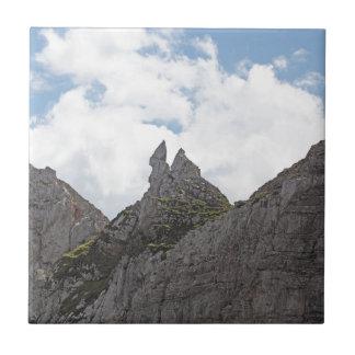 Karwendel range in the Bavarian Alps. Small Square Tile