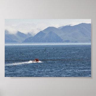 Kasatochi Island, MV Tiglax crew and scientist Poster