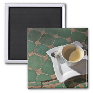 Kasbah Hotel and Restaurant, coffee and green Square Magnet