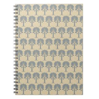 Kashmir Blue Spice Moods Palm Spiral Note Book