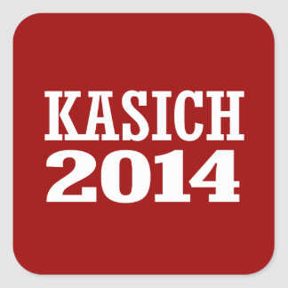 KASICH 2014 SQUARE STICKERS