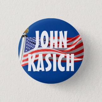 Kasich Running for President American Flag Button