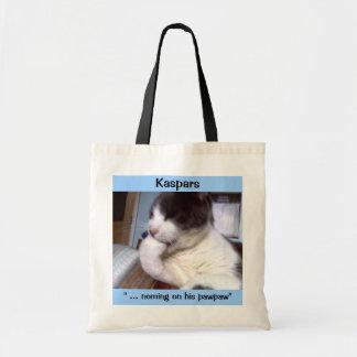 """Kaspars """"...noming on his pawpaw"""" Tote bag"""