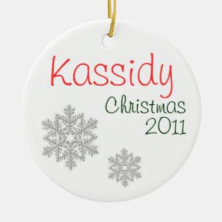 Kassidy Christmas 2011 Round Ceramic Decoration