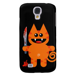 KAT WITH SHARP KNIFE SAMSUNG GALAXY S4 CASE