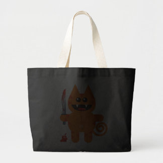 KAT WITH SHARP KNIFE TOTE BAG