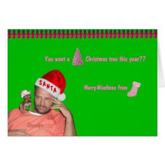 Kate - Chihuahua wants a PINK Christmas tree Card