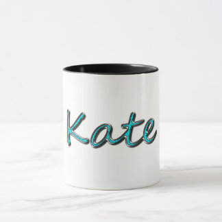 Kate_Chrome Blue Green Text Mug