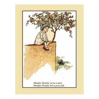 Kate Greenaway: Humpty Dumpty Postcard