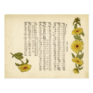 Kate greenaway Music Postcard