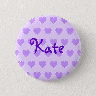 Kate in Purple 6 Cm Round Badge