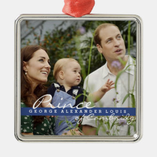 Kate Middleton Prince George Silver-Colored Square Decoration
