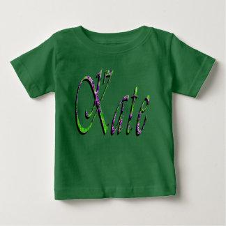 Kate, Name, Logo, Baby's Green T-shirt