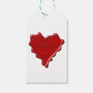 Katelyn. Red heart wax seal with name Katelyn